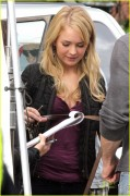 Britt Robertson on the set of The Secret Circle in Vancouver 9/25/11