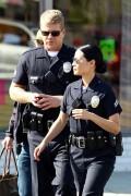 Люси Алексис Лью, фото 1102. Lucy Alexis Liu - in uniform on set of 'Southland', LA - Nov 9, foto 1102
