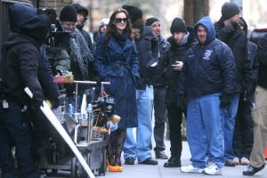 Лейгтон Мистер, фото 6893. Leighton Meester On the Set of 'Gossip Girl' in Manhattan - 05.03.2012, foto 6893