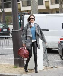 Миранда Керр, фото 3761. Miranda Kerr - arriving at the Miu Miu runway show, Paris - March 7, foto 3761