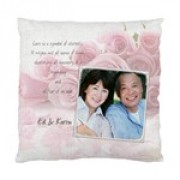 Love Pink Rose Cushion Case
