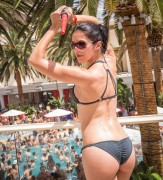 Adrianne Curry - wearing a bikini at Encore Beach Club in Las Vegas 08/04/12